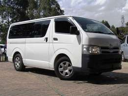 2011 Toyota HiAce Pearl White in Color