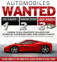 Sell us your vehicle hassle free!!