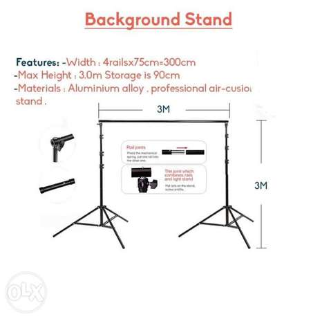For sale background stand