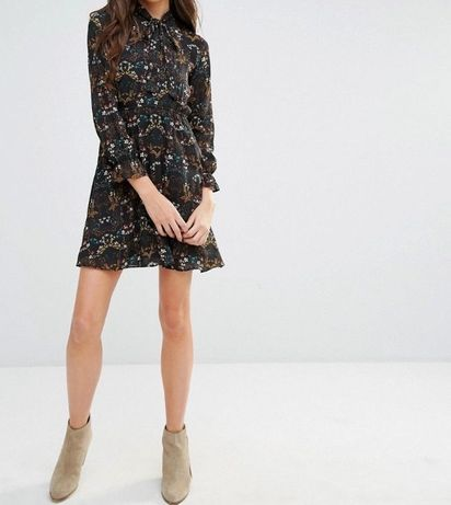 fefa902f02 Nowa sukienka YUMI w kwiaty długi rękaw R.42(XL)UK14 Sieradz • OLX.pl