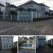 5bedroom duplex with swimming pool & bq for sale at peter odili port h