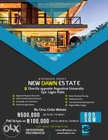 Land for sale at New dawn estate opp.Augustine university epe lagos