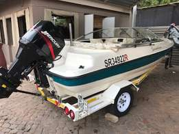 Sensation 16ft with 115 mercury for sale