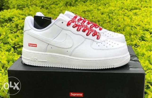Authentic Air Force Supreme White color