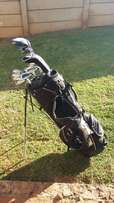 Golf clubs and stand