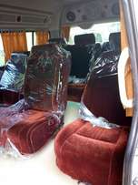 Toyota hiace with screen and rotating velvet seats