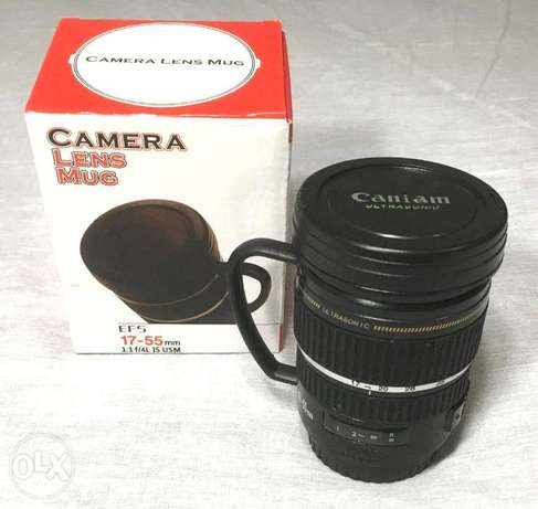 Camera Lens Tea Cup Mug w Handle EFS 17-55mm