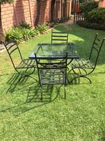Glass Table With Metal Frame 4 seater (including cushions)