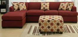 Haris five seater L sofa plus center paff inclusive