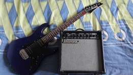 Ibanez Electric guitar and amp