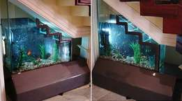 Stair aquariums