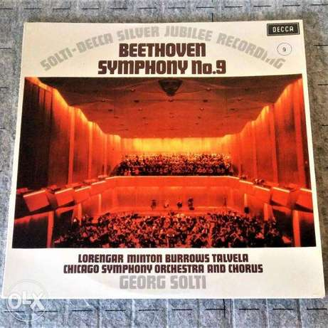 beethoven symphony number 9 2 vinyls boxed
