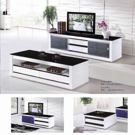 Glass paint TV cabinet and coffee table Melville - image 1