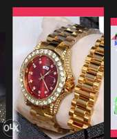 Rolex watch and bracelets