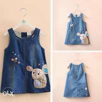 Girls dresses jeans dungarees age 4