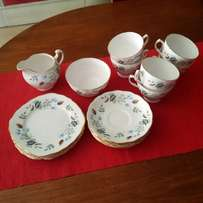 Vintage Tea Set floral with gold rimmed edges