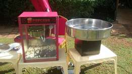 candy floss, pop corn machines for repair hire ans sale