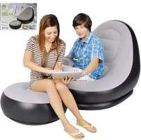 Fancy point deluxe lounger with foot stool