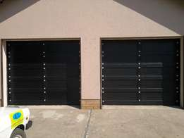 Garage door Wood Meranti installers. Vanderbijlpark Vereeniging.