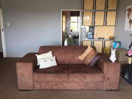 Brown suede couch for sale