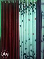 Readymade curtains with matching sheers at 900/- per meter.