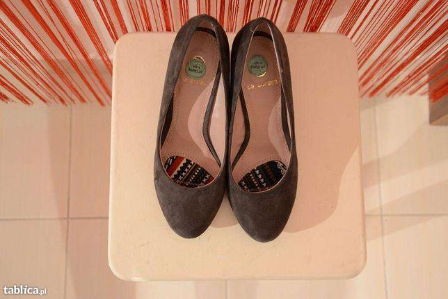 6d6bec10fed47 brązowe czółenka szpilki buty La Strada 37 na obcasie Kielce - image 1