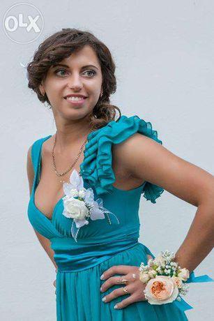 9f5bfc3f44b Шикарное бирюзовое платье в пол  350 грн. - Женская одежда Киев на Olx