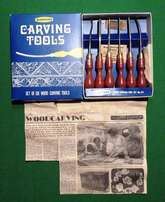 Vintage Marples Wood Carving Toolset, no 152