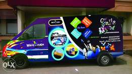 vehicle branding and office design