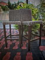 Wicker Bar Chairs/Stools