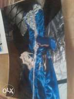 Beautiful Royal blue and silver farewell dress.