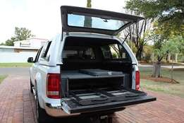 Storage drawer system for vehicles suits most SUV's and Bakkies