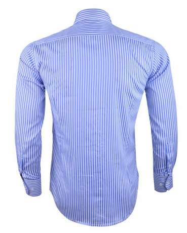 Owen Striped Formal Shirt - White & Blue Kosofe - image 2