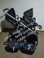 Double Trouble travel system - Please whats app during office hours