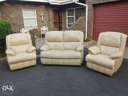 Leather Electric recliners & 2 Seater leather couch