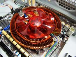 Ball-Bearing Copper Heatsink & Fan for 115x Intel AMD Motherboard