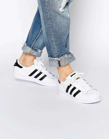 New adidas superstar white sneakers Lagos - image 1