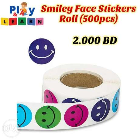 Smiley Face Stickers Roll