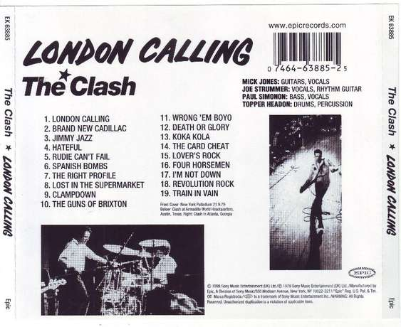 The Clash - London calling (remastered) (CD) Plumstead - image 2