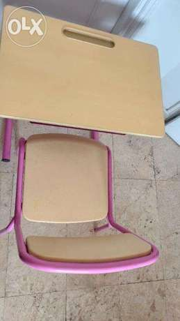 Pink Kids study Table and Chair