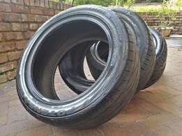 Set of 245/45r17 Bridgestone Potenza tires for sale.