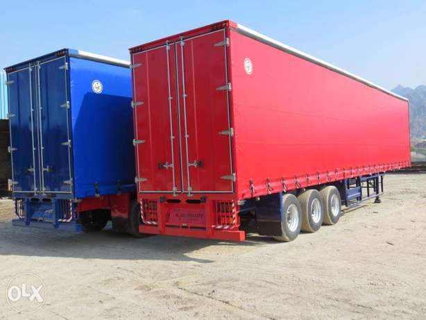 curtain trailers Satara 3-axle single tyre