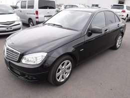 Mercedes C200 blue efficiency cgi black