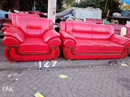 Leather five seater