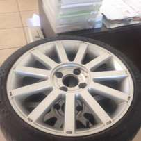 4x Ford Fiesta St Standard mags with tyres