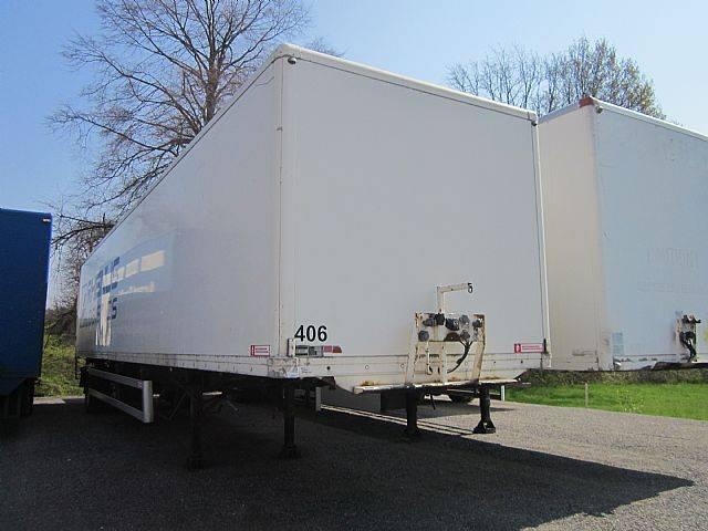 Ackermann 1 Achs Koffer Auflieger LBW Lenkachse 19 t Ges. G. - 2001