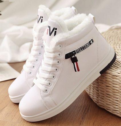 4d8759b3eb06 Zimowe buty sportowe damskie do kostki modny fason
