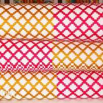 Odo Chain Gold, Hot Pink and White Bonwire Kente Cloth.