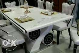 Superb Eight seaters marble dining table set