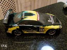 Drift R/C car, battery operated, all wheel drive system.